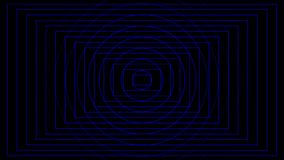 Abstrakcjonistyczny błękitny okręgu i prostokąta bicie na czarnym tle ilustracji