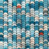 Abstrakcjonistyczny błękitny okręgu wzór Zdjęcie Stock