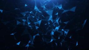 Abstrakcjonistyczny błękitny plexus trójboka tło ilustracja wektor