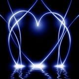 Abstrakcjonistyczny błękitny serce Zdjęcia Stock