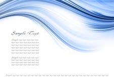 abstrakcjonistyczny błękitny szablon Obraz Royalty Free