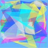 Abstrakcjonistyczny błękitny tło barwione wiruje linie płatki jak fan royalty ilustracja