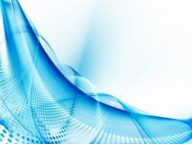 Abstrakcjonistyczny błękitny tło element Fotografia Royalty Free