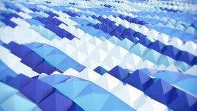 Abstrakcjonistyczny błękitny tło, fala, komputer wytwarzał obrazek świadczenia 3 d Fotografia Stock