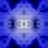 Abstrakcjonistyczny błękitny tło i tekstura psychodeliczny maswerk Obrazy Royalty Free