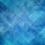 Abstrakcjonistyczny błękitny tło projekt z warstwami trójboków wieloboki i kształty Fotografia Stock
