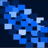 Abstrakcjonistyczny błękitny tło z błękitem barwił światło i ciemni kwadraty kłaść out w rzędach Fotografia Royalty Free