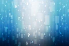 Abstrakcjonistyczny błękitny tło z błękitem i światłami białymi Zdjęcie Stock