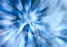 Abstrakcjonistyczny błękitny tło z bokeh i promieniami światło Zdjęcie Royalty Free