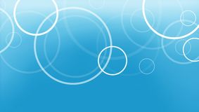 Abstrakcjonistyczny błękitny tło z okregów pierścionkami ablegrującymi w świeżym wzorze Obraz Stock
