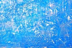 Abstrakcjonistyczny błękitny tło z scuffs i narysami Imitacja lód i zimno powierzchnia Piękny elegancki puste miejsce dla tła obrazy stock