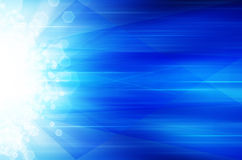 Abstrakcjonistyczny błękitny technologii tło. Obraz Stock