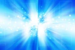 Abstrakcjonistyczny błękitny technologii tło. Fotografia Stock