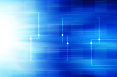 Abstrakcjonistyczny błękitny technologii tło. Zdjęcia Stock