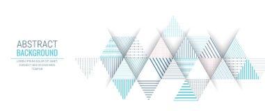 Abstrakcjonistyczny błękitny trójbok linii lampasa wzoru tło Zdjęcia Royalty Free