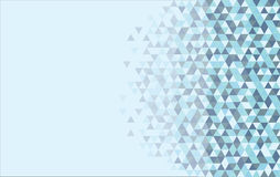 Abstrakcjonistyczny błękitny trójboka tło Zdjęcia Stock