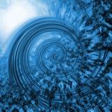 Abstrakcjonistyczny błękitny vortex Fotografia Royalty Free