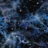 Abstrakcjonistyczny błękitny wszechświat ilustraci bezszwowy linowy ilustracja wektor