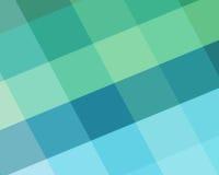 Abstrakcjonistyczny błękitny, zielony tło z diamentu bloku kształtami w wędkujących kolorach i Fotografia Royalty Free