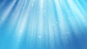 Abstrakcjonistyczny błyszczący błękitny animowany tło Bezszwowa pętla zdjęcie wideo