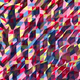 Abstrakcjonistyczny bacground z trójgraniaści 3 barwionym terain Obrazy Royalty Free