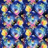 Abstrakcjonistyczny bajki tło z magiczną butelką i świetlikiem Fotografia Stock