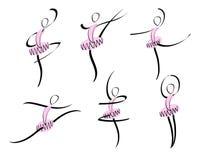 abstrakcjonistyczny balet Zdjęcia Stock