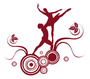 abstrakcjonistyczny baletniczy projekt Obrazy Royalty Free