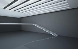 abstrakcjonistyczny balkonowy wewnętrzny biel Zdjęcia Royalty Free