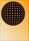 abstrakcjonistyczny balowy czerń ilustracji