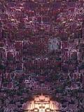 Abstrakcjonistyczny barwiony futurystyczny techno wzór Cyfrowego 3d ilustracja Fotografia Royalty Free