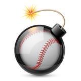 Abstrakcjonistyczny baseball kształtujący jak bomba Zdjęcie Stock