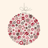 abstrakcjonistyczny bauble bożych narodzeń ilustraci wektor Fotografia Royalty Free