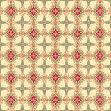 Abstrakcjonistyczny beż i czerwona kwiecista geometryczna Bezszwowa tekstura Zdjęcia Stock