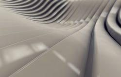 Abstrakcjonistyczny beżowy glansowany metalu tło Obraz Royalty Free