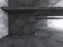 Abstrakcjonistyczny beton textured architektury tło ilustracji