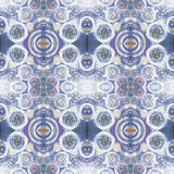Abstrakcjonistyczny bezszwowy akrylowy ornamentacyjny wzór Bezszwowa tekstura w impresjonizmu stylu Obrazy Royalty Free