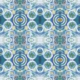 Abstrakcjonistyczny bezszwowy akrylowy ornamentacyjny wzór Bezszwowa tekstura w impresjonizmu stylu Zdjęcie Royalty Free