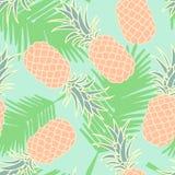 Abstrakcjonistyczny bezszwowy ananasa wzór Obrazy Royalty Free