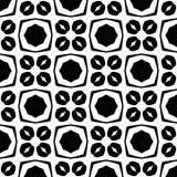 Abstrakcjonistyczny Bezszwowy Dekoracyjny Geometryczny Lekki Czarny & Biały Deseniowy tło obrazy royalty free