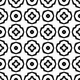 Abstrakcjonistyczny Bezszwowy Dekoracyjny Geometryczny Lekki Czarny & Biały Deseniowy tło zdjęcie royalty free
