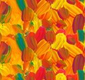 Abstrakcjonistyczny bezszwowy farba wzór w spadku kolorze ilustracja wektor