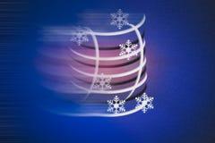 Abstrakcjonistyczny bezszwowy hałaśliwie i rozmyty wakacje tło z zima symbolami Obrazy Stock