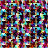 Abstrakcjonistyczny bezszwowy koloru wzór w graffiti stylu ilości wektorowa ilustracja dla twój projekta Zdjęcie Stock
