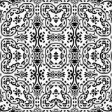 Abstrakcjonistyczny bezszwowy konturu wzór Zdjęcie Royalty Free