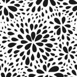 Abstrakcjonistyczny bezszwowy kropla wzór Monochromatyczna czarny i biały tekstura Wielostrzałowy geometryczny prosty graficzny t ilustracja wektor