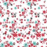 Abstrakcjonistyczny bezszwowy kwiatu tło zdjęcia stock