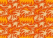Abstrakcjonistyczny bezszwowy organicznie wzór również zwrócić corel ilustracji wektora Zdjęcie Royalty Free