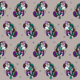 Abstrakcjonistyczny bezszwowy ornamentacyjny wektoru wzór Zdjęcie Stock