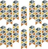 Abstrakcjonistyczny bezszwowy ręka remisu wzoru trójbok Zdjęcie Stock